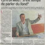 La Provence : Cyril Di Méo «Il est temps de parler de fond»