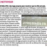 La Provence : Di Méo (PS) Des tags propres pour montrer que la ville est sale