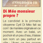 Aix City Local News : Di Méo monsieur propre ?