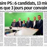 La Provence : Primaire PS : 6 candidat-e-s, 13 minutes et plus que 3 jours pour convaincre