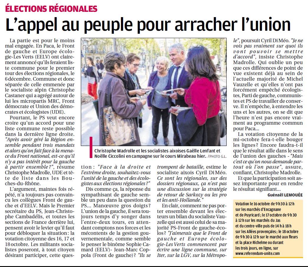 votation madrolle 7 oct Provence