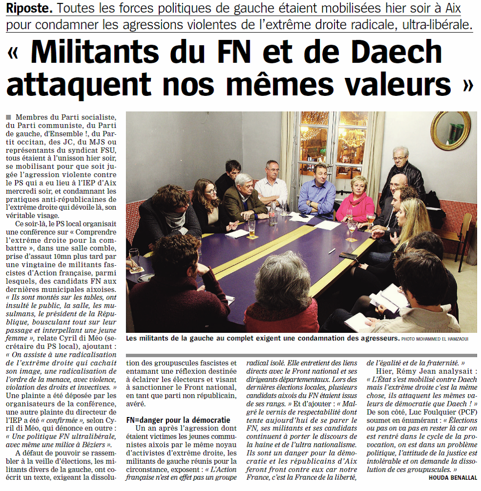 Marseillaise Conf presse