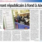 Le front républicain à fond à Aix : La Provence analyse les résultats du 2e tour des régionales.