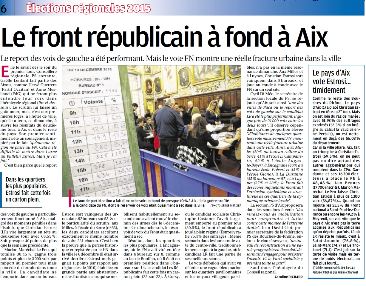 analyse Provence 2e tour regionales