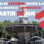 Contre les violences de l'extrême droite à Aix. Rassemblement pour les libertés et la démocratie :  le 19 mars à 16h aux allés provençales