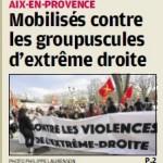 La Provence rend compte du rassemblement du 20 mars