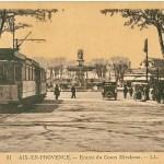 Un tramway entre Aix et Marseille.. c'était avant