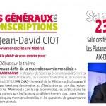 Débat sur la mondialisation avec André Cartapanis le 23 avril à Aix