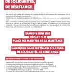 Marche le 9 juin : Aix terre d'accueil , de solidarités et de résistance