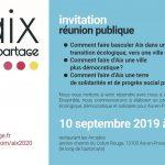 Réunion publique le 10 septembre : construisons ensemble un programme municipal