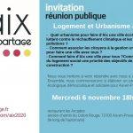 Réunion publique. Logement et urbanisme à Aix . Le 6 novembre