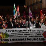 Retraite aux flambeaux contre la réforme des retraites (5 février)