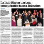 Dernier meeting de la liste d'Aix en Partage