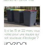 Pouvoir enfin trier ses déchets en centre ville.