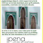 Pour une mosquée digne de ce nom à Aix