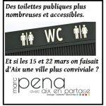 Pour des toilettes publiques accessibles à Aix