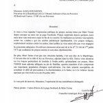 Lettre au procureur suite aux propos de Mme Terme