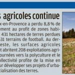 Destruction des terres agricoles à Aix