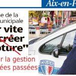 Réactions aux déclarations de Sylvain Dijon adjoint à la sécurité d'Aix en Provence.
