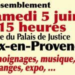 Rassemblement 5 juin : Défendre nos libertés.