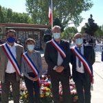 Commémoration du 8 mai, place Jeanne d'Arc.