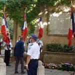 Cérémonie pour commémorer la libération d'Aix